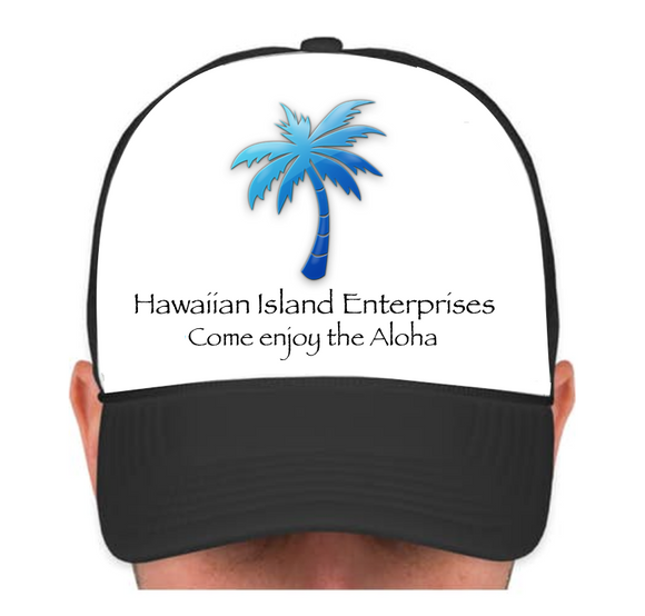 HIE Cap with Blue Palm and Aloha