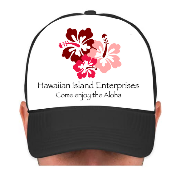 HIE Cap with BPR Hibiscus and Aloha