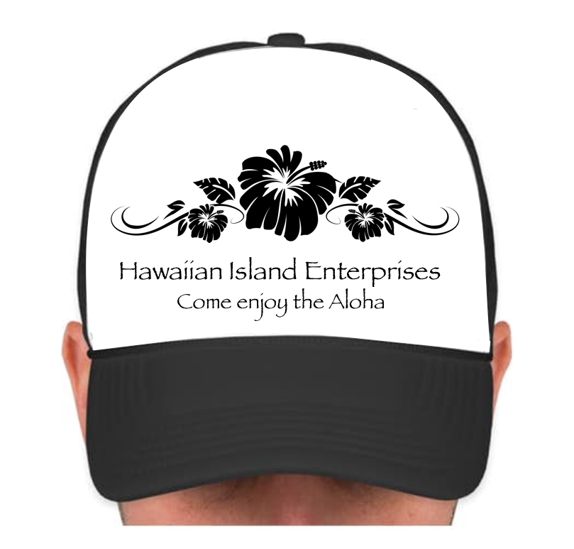 HIE Cap with Fashion Black Hibiscus