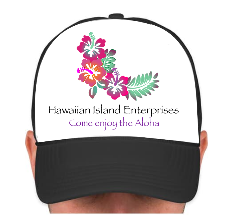 HIE Cap Bent Hibiscus with Aloha