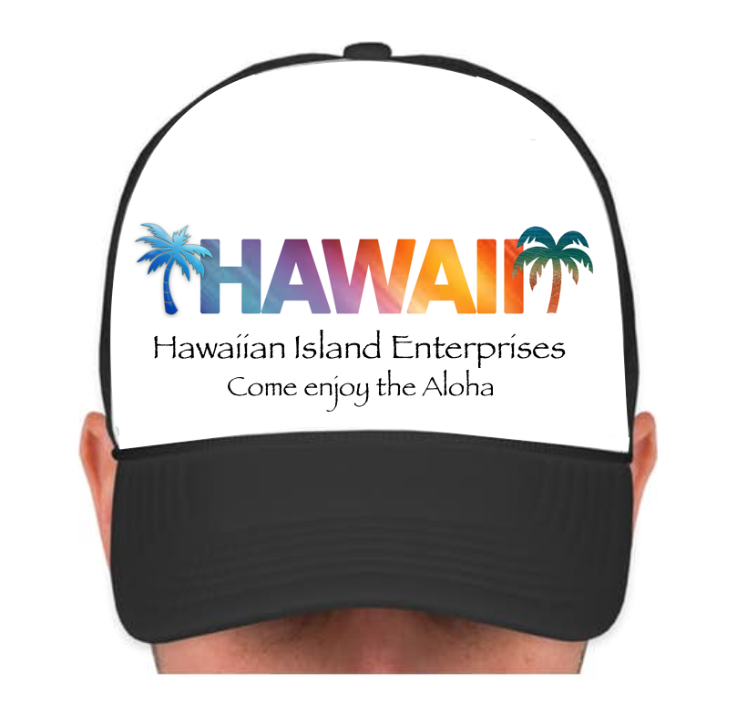 HIE Cap Hawaii with Palms and Aloha