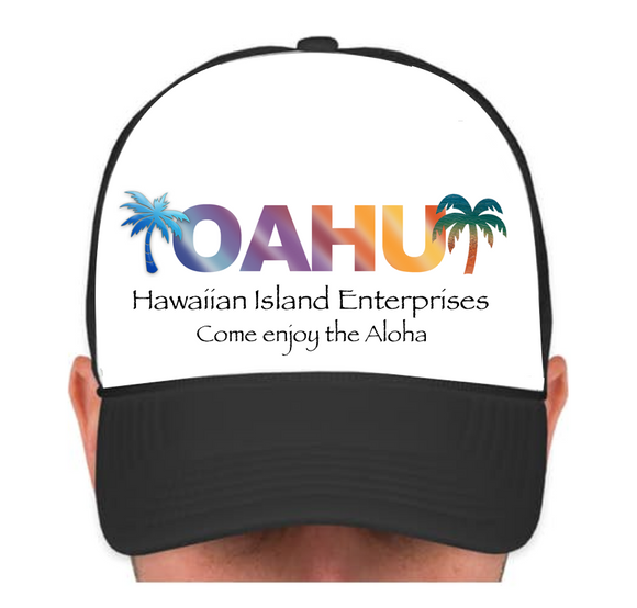HIE Cap Oahu with Palms and Aloha