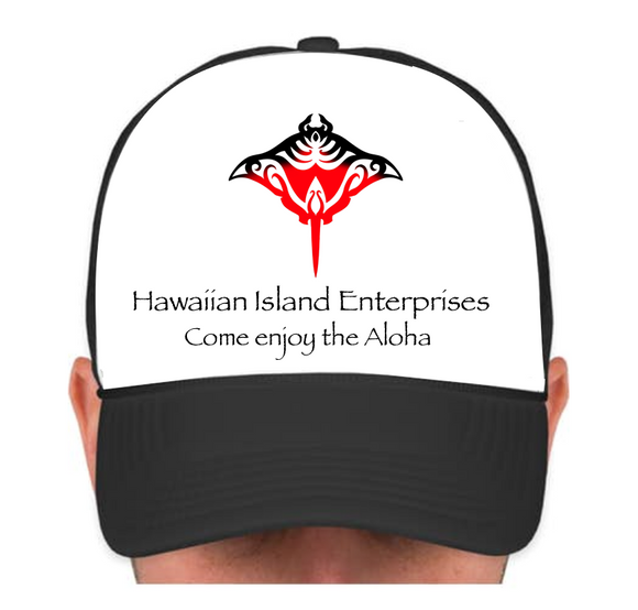 HIE Cap Red Manta with Aloha