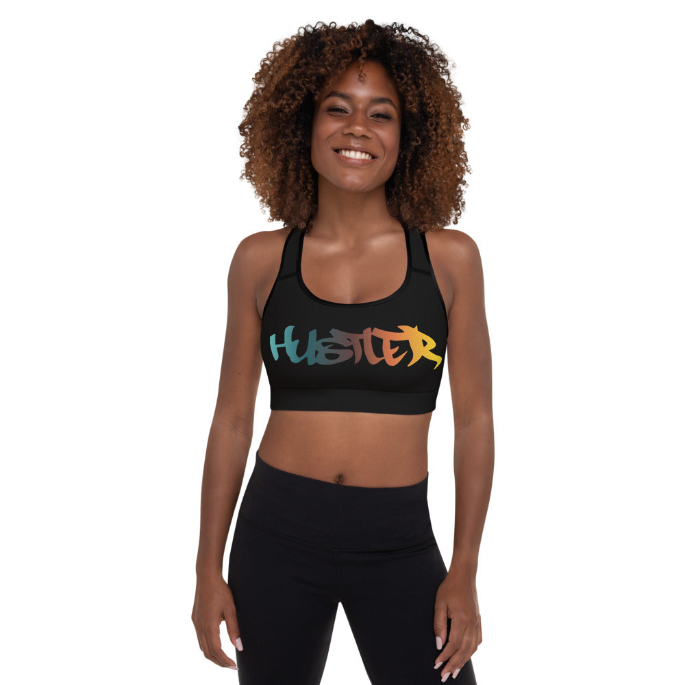 Black Padded Sports Bra (Multi 29)