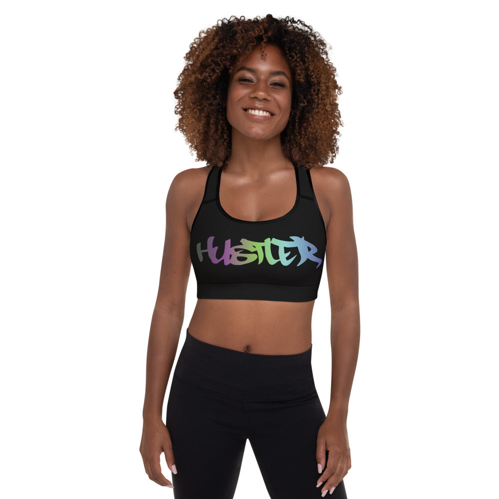 Black Padded Sports Bra (Multi 30)