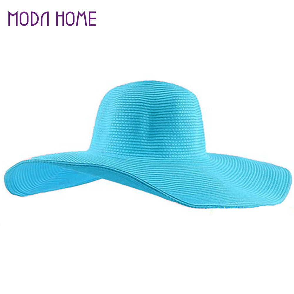 Fashion Cute Straw Beach Hat with Foldable Brim