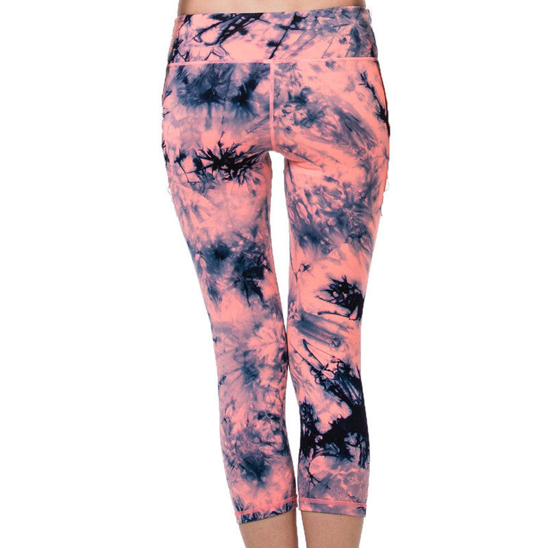 Pink & Black Yoga Sports Leggings
