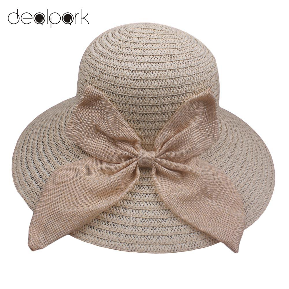 Summer Big Bow Wide Brim Sun Hat