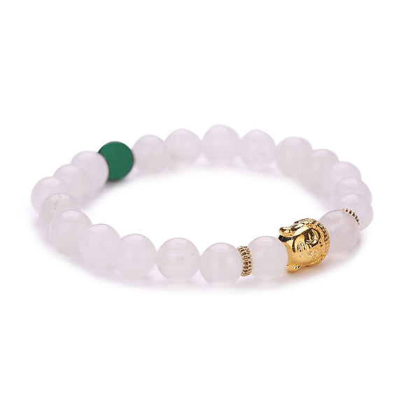 Elastic Clear Beaded Buddha Bracelet