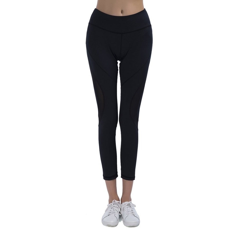 Elastic High Waist Yoga Fitness Leggings
