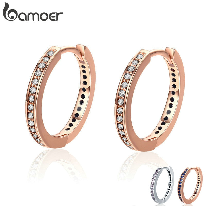 Sterling Silver or Gold Color Hoop Earring