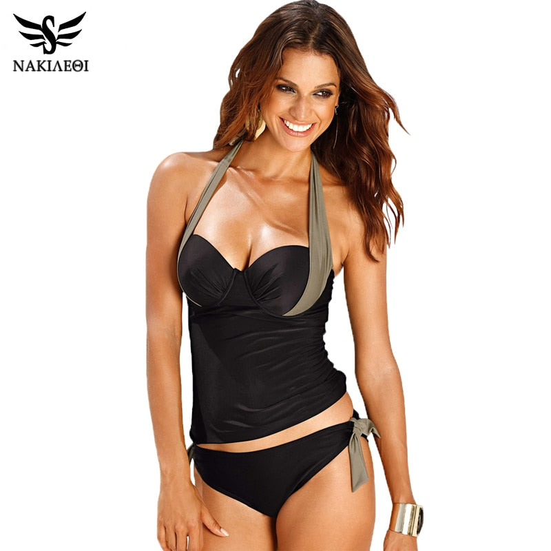 Sexy Push Up High Waisted Tankini Set