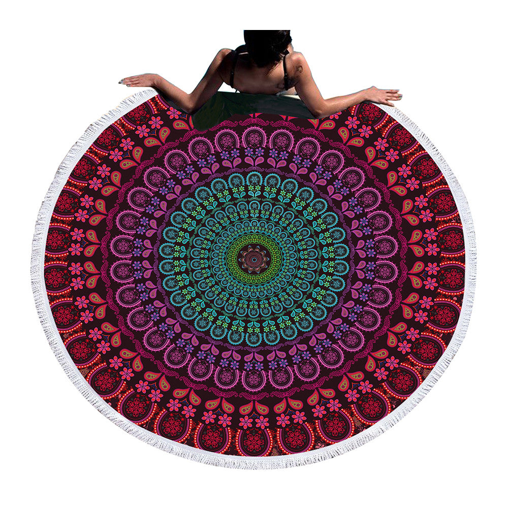 Indian Round Beach & Yoga Towel