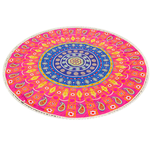 Large Bohemian Beach & Yoga Towel