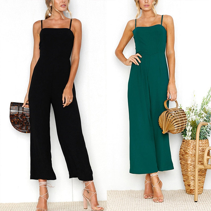 Summer Backless Romper Jumpsuit