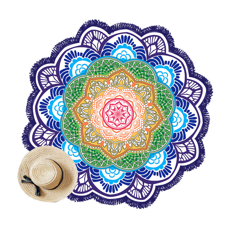 Lotus Round Beach & Yoga Towel