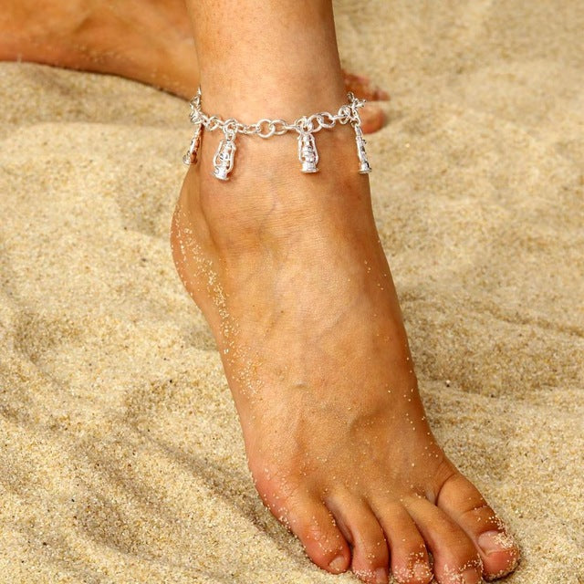 Anklet with Beach Shells Charms