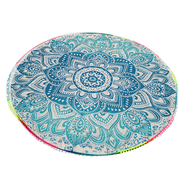 Large Colored Beach & Yoga Towel