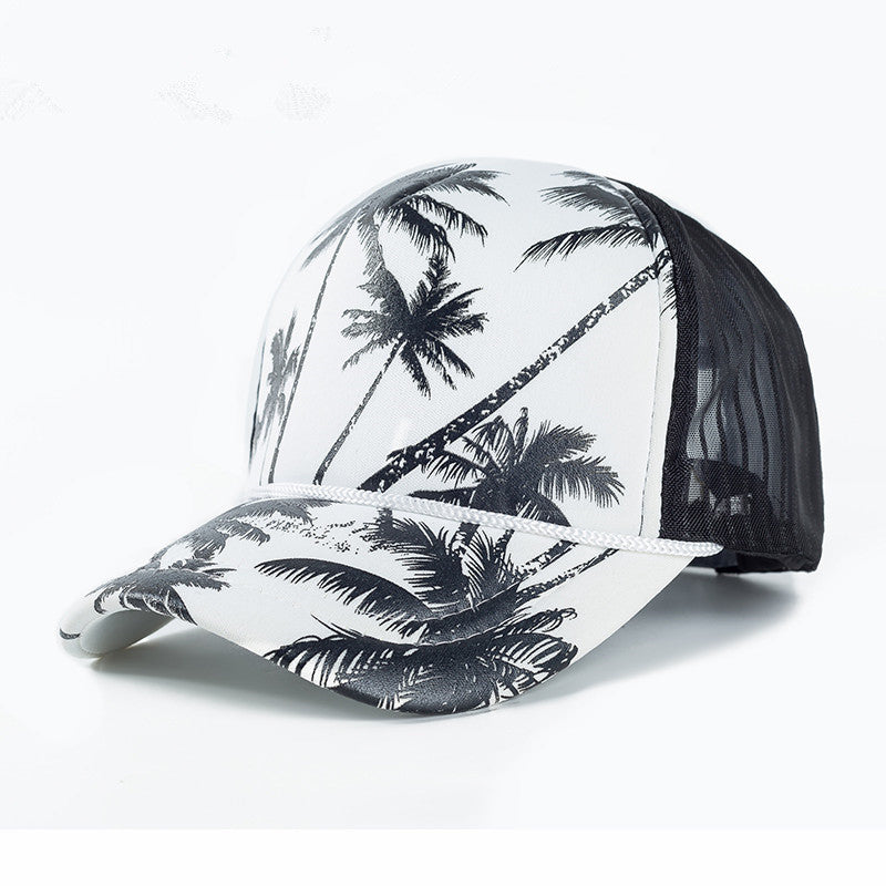 Tropical Palm Tree Mesh Baseball Cap