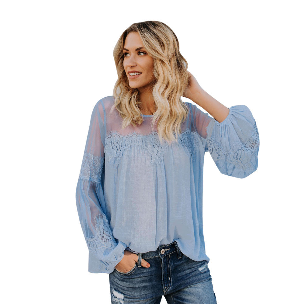Summer Casual Long Loose Sleeve Blouse