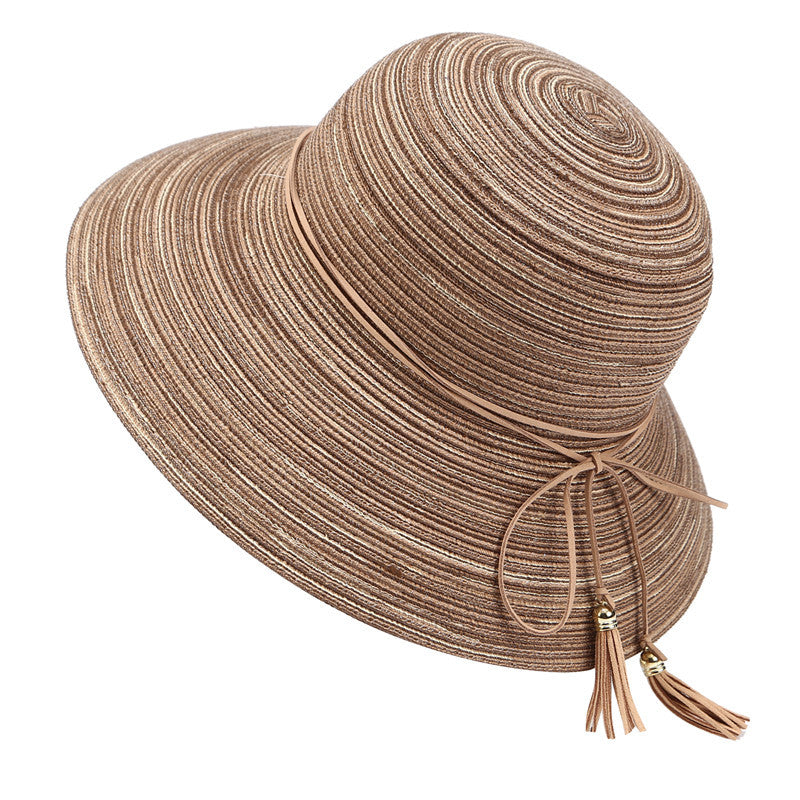 Floppy Straw Fashion Hat with Tassel