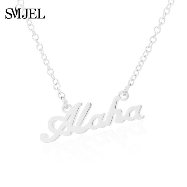 Hawaii Aloha Pendant Necklace