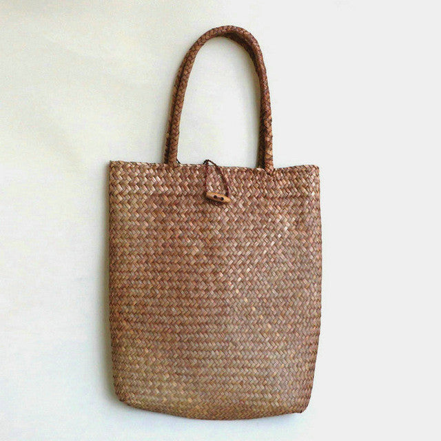Woven Shoulder Tote Basket Bag
