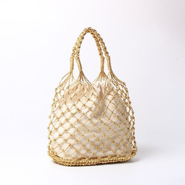Reticulate netted handbag