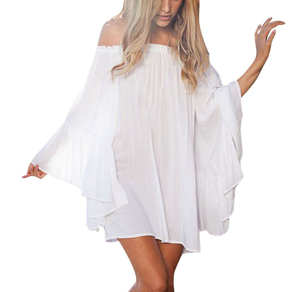 Off Shoulder Bikini Cover Up Dress