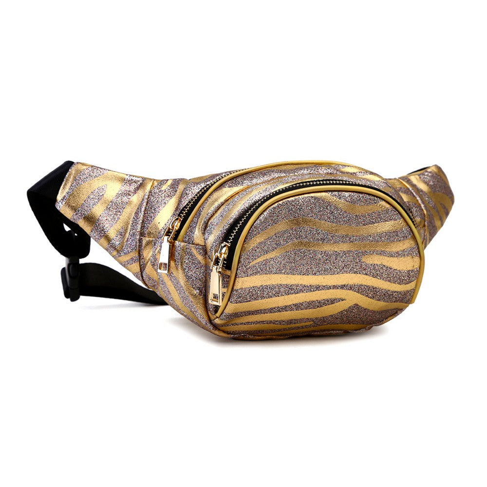 Gold Glitter Metallic Waist bag