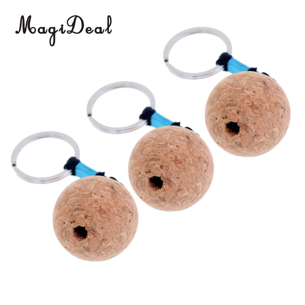 Ultralight Floating Cork Keyring (3pcs)