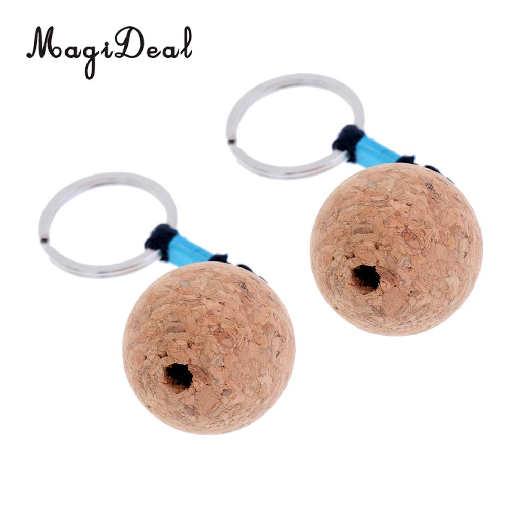 Floating Cork Ball Keyring