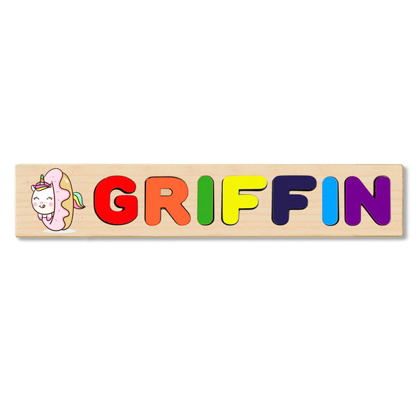 Wooden Name Puzzle Personalized Puzzle Choose Up to 12 Letters. Dunkin Donuts Unicorn Theme