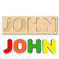 Wooden Personalized Name Puzzle - Any Name Or First & Last Name Choose up to 12 Letters No Extra Cost - JOHN
