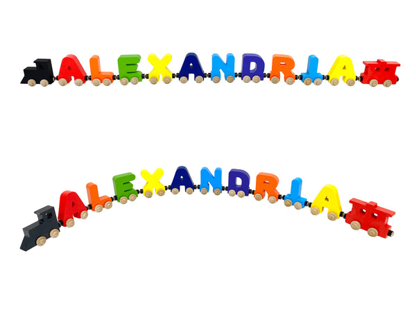 10 Letter Train Wooden Perosnalized Name Letters Includes Train & Wagon Letters Puzzle Includes Train & Wagon Free