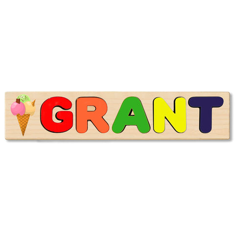 Wooden Name Puzzle Personalized Puzzle Choose Up to 12 Letters. Baby Panther  Theme
