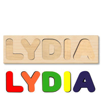 Wooden Name Puzzle Personalized Puzzle Choose Up to 12 Letters. Lovely Unicorn Theme