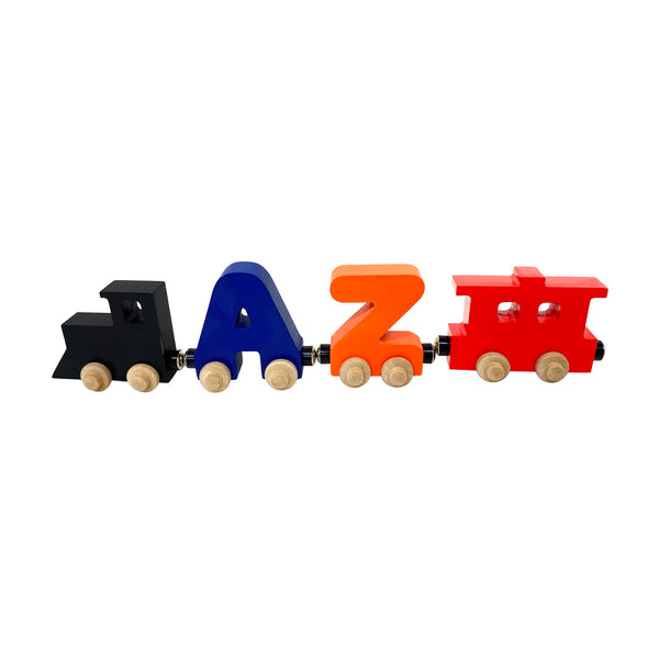 2 Letter Train Wooden Perosnalized Name Letters Includes Train & Wagon Letters Puzzle Includes Train & Wagon Free
