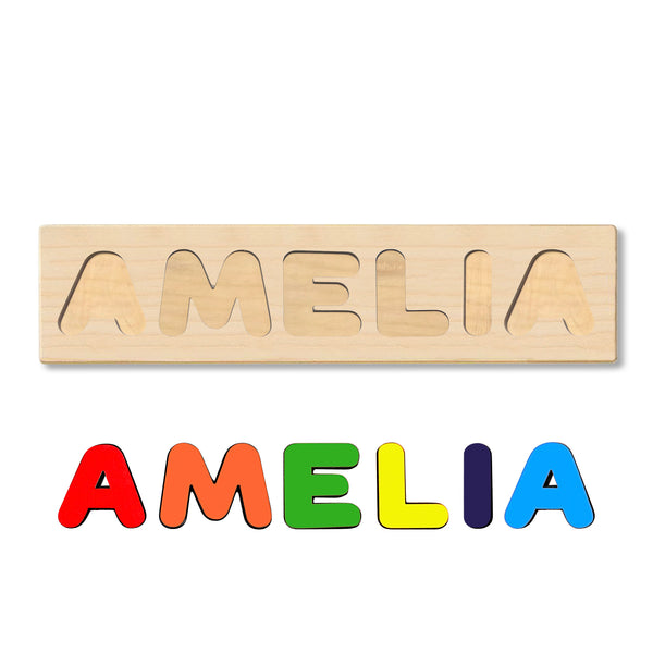 Wooden Personalized Name Puzzle - Any Name Or First & Last Name Choose up to 12 Letters No Extra Cost - AMELIA