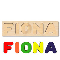 Wooden Name Puzzle Personalized Puzzle Choose Up to 12 Letters. Cute Unicorn Theme