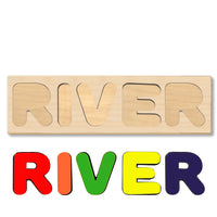 Wooden Name Puzzle Personalized Puzzle Choose Up to 12 Letters. Rocket  Theme