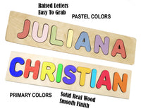 Wooden Personalized Name Puzzle - Any Name Or First & Last Name Choose up to 12 Letters No Extra Cost - AURORA