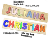 Wooden Personalized Name Puzzle - Any Name Or First & Last Name Choose up to 12 Letters No Extra Cost - JULIETTE