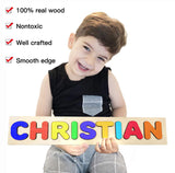 Wooden Personalized Name Puzzle - Any Name Or First & Last Name Choose up to 12 Letters No Extra Cost - WYATT