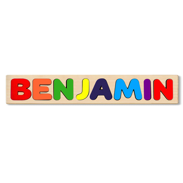 Wooden Name Puzzle Personalized Puzzle Choose Up to 12 Letters. Animal Train Theme