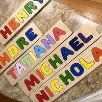 Wooden Personalized Name Puzzle - Any Name Or First & Last Name Choose up to 12 Letters No Extra Cost - SAWYER