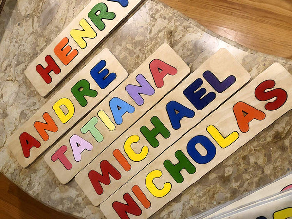 Wooden Personalized Name Puzzle - Any Name Or First & Last Name Choose up to 12 Letters No Extra Cost - MADELINE
