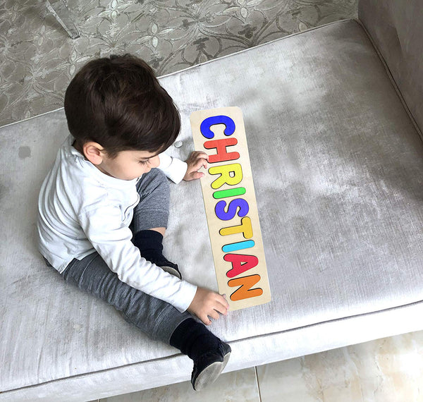 Wooden Personalized Name Puzzle - Any Name Or First & Last Name Choose up to 12 Letters No Extra Cost - LOGAN