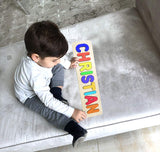 Wooden Personalized Name Puzzle - Any Name Or First & Last Name Choose up to 12 Letters No Extra Cost - AUGUST