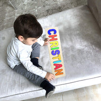 Wooden Personalized Name Puzzle - Any Name Or First & Last Name Choose up to 12 Letters No Extra Cost - KINSLEY